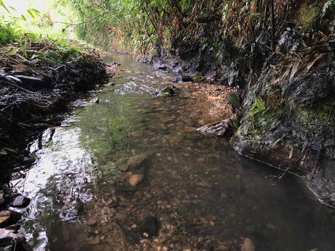 Suối đầu nguồn nhà máy nước Sông Đà đen ngòm dầu thải làm nước máy HN có mùi khét, thủ phạm là ai ?