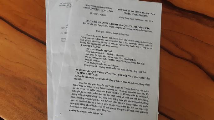 Giáo viên tố cáo chủ tịch huyện chống lưng cho hiệu trưởng - Ảnh 3.