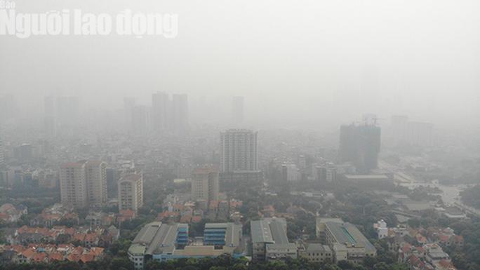 Hình ảnh không khí đặc quánh, mờ mịt ở Hà Nội - Ảnh 1.