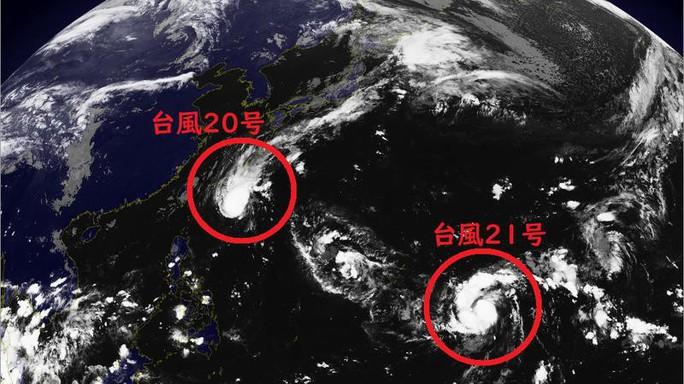 Hai cơn bão mới đang đua tới Nhật - Ảnh 1.