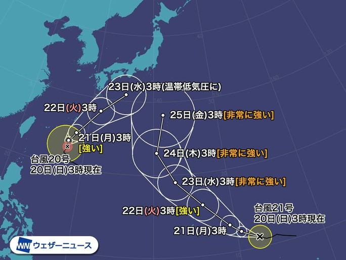 Hai cơn bão mới đang đua tới Nhật - Ảnh 2.