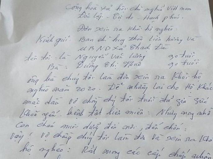 Vợ chồng hai cụ 90 tuổi viết đơn xin rút khỏi hộ nghèo - Ảnh 2.