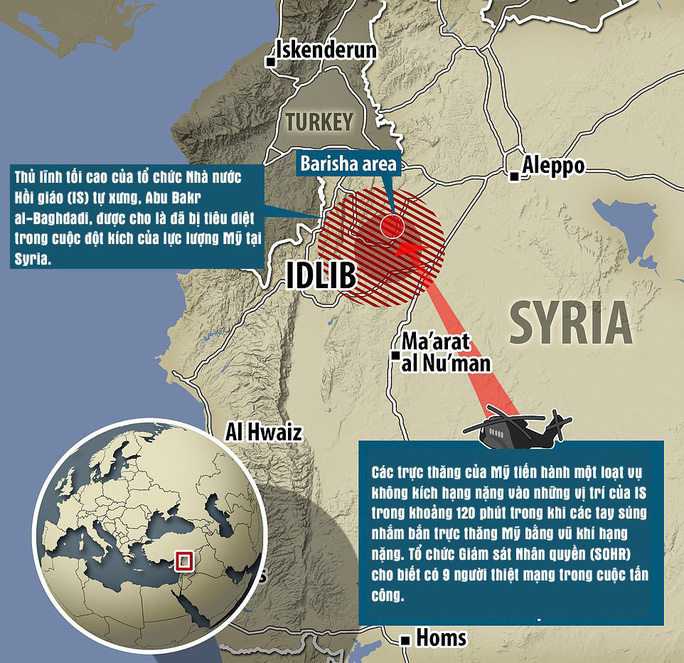 Thủ lĩnh tối cao IS kích hoạt thuốc nổ, chết cùng 3 con - Ảnh 3.