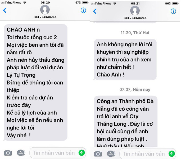 Tổng cục 2 vào cuộc vụ Giám đốc một ban quản lý ở Đà Nẵng bị đe dọa - Ảnh 2.