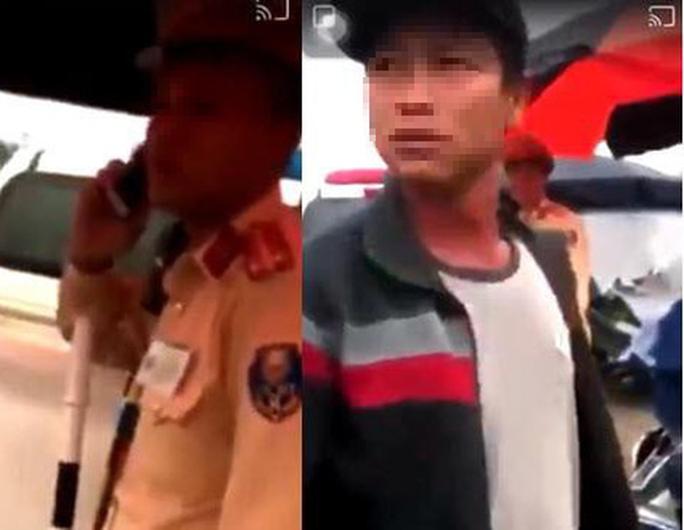 CLIP: Xác minh thông tin người lạ mặt tại chốt CSGT hành hung người dân ghi hình - Ảnh 2.
