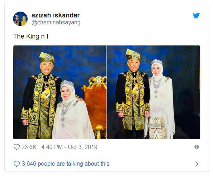 """Hoàng hậu Malaysia bị """"cướp"""" nụ hôn - Ảnh 4."""