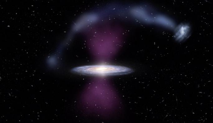 Thiên hà chứa trái đất phát nổ, ngọn lửa lan sang tận hàng xóm - Ảnh 1.