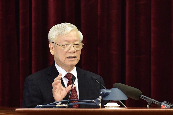 Tổng Bí thư, Chủ tịch nước phát biểu khai mạc Hội nghị Trung ương 11 - Ảnh 1.