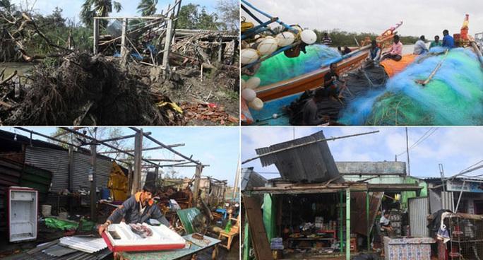 """Rời Việt Nam, bão Matmo """"sống lại"""" tấn công Ấn Độ và Bangladesh - Ảnh 1."""