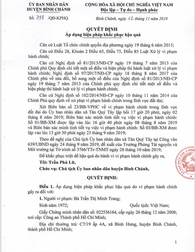 Sau ngày 22-11, sẽ cưỡng chế Gia Trang quán- Tràm Chim resort - Ảnh 1.