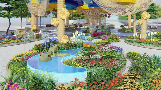 Nhiều tạo hình độc đáo ở đường hoa Nguyễn Huệ Tết Canh Tý 2020 - Ảnh 5.