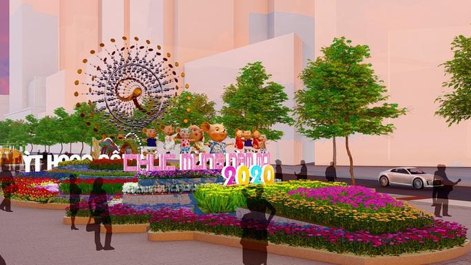 Nhiều tạo hình độc đáo ở đường hoa Nguyễn Huệ Tết Canh Tý 2020 - Ảnh 8.