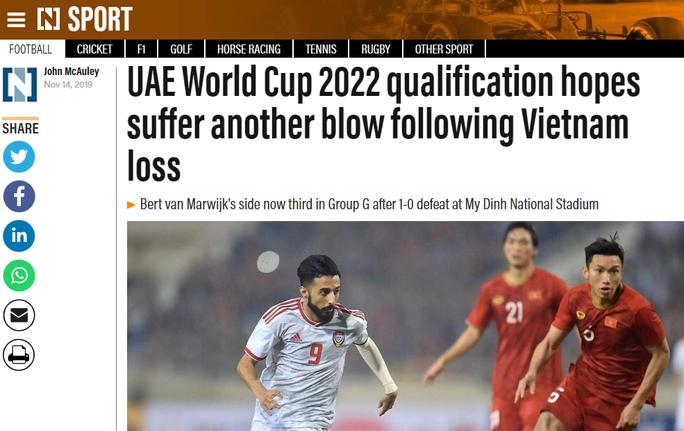 Báo chí UAE nể phục các cầu thủ tuyển Việt Nam - Ảnh 1.