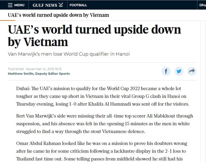 Báo chí UAE nể phục các cầu thủ tuyển Việt Nam - Ảnh 2.