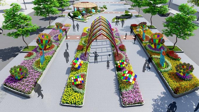 Nhiều tạo hình độc đáo ở đường hoa Nguyễn Huệ Tết Canh Tý 2020 - Ảnh 7.