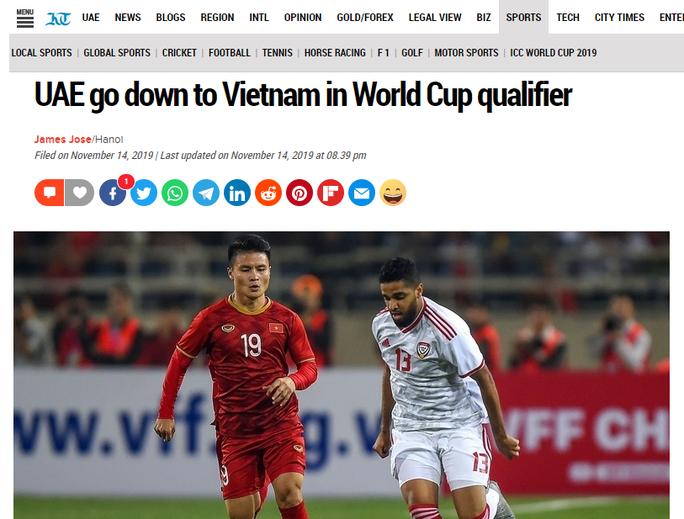 Báo chí UAE nể phục các cầu thủ tuyển Việt Nam - Ảnh 3.