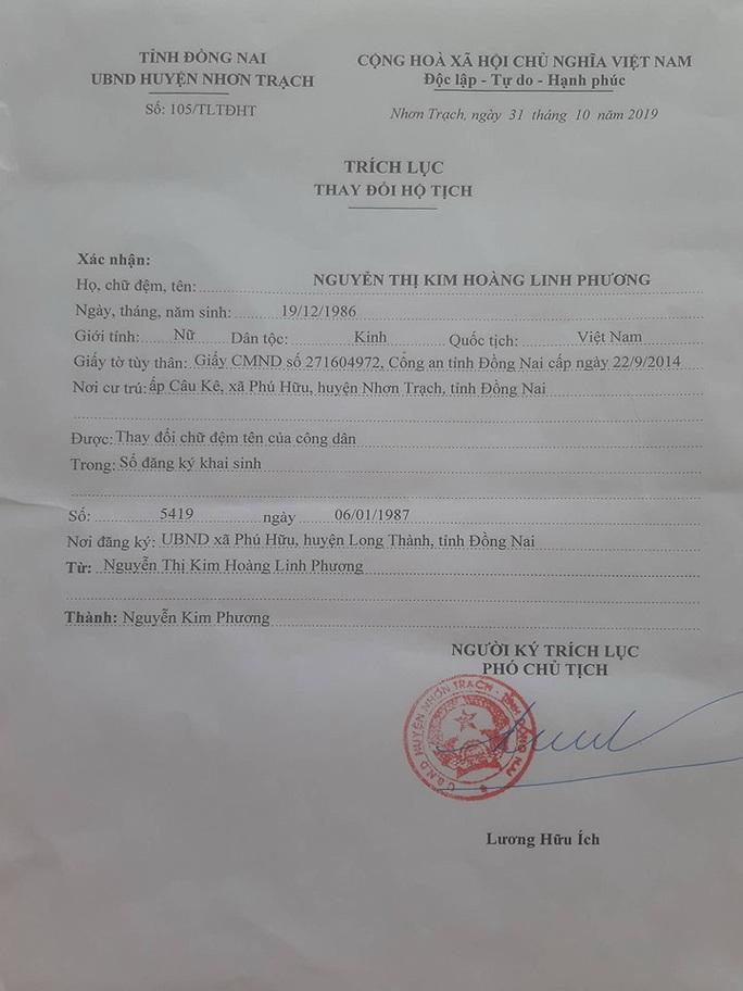 Diễn biến mới nhất vụ xin đổi tên vì quá dài của người phụ nữ ở Nhơn Trạch - Ảnh 1.