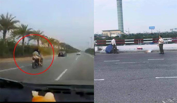 Chạy xe máy tốc độ cao ở đường cấm sân bay Nội Bài, 2 phụ nữ thương vong - Ảnh 1.