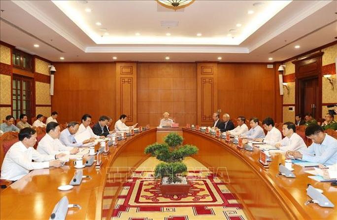 Cận cảnh Tổng Bí thư, Chủ tịch nước chủ trì họp Thường trực Ban Chỉ đạo Trung ương Phòng chống tham nhũng - Ảnh 3.