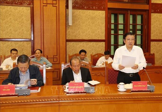 Cận cảnh Tổng Bí thư, Chủ tịch nước chủ trì họp Thường trực Ban Chỉ đạo Trung ương Phòng chống tham nhũng - Ảnh 4.
