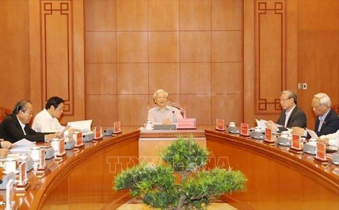 Cận cảnh Tổng Bí thư, Chủ tịch nước chủ trì họp Thường trực Ban Chỉ đạo Trung ương Phòng chống tham nhũng - Ảnh 5.