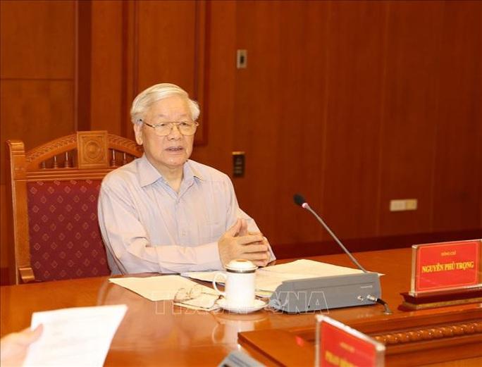 Cận cảnh Tổng Bí thư, Chủ tịch nước chủ trì họp Thường trực Ban Chỉ đạo Trung ương Phòng chống tham nhũng - Ảnh 6.