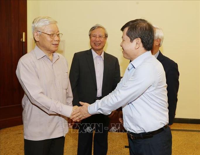 Cận cảnh Tổng Bí thư, Chủ tịch nước chủ trì họp Thường trực Ban Chỉ đạo Trung ương Phòng chống tham nhũng - Ảnh 1.