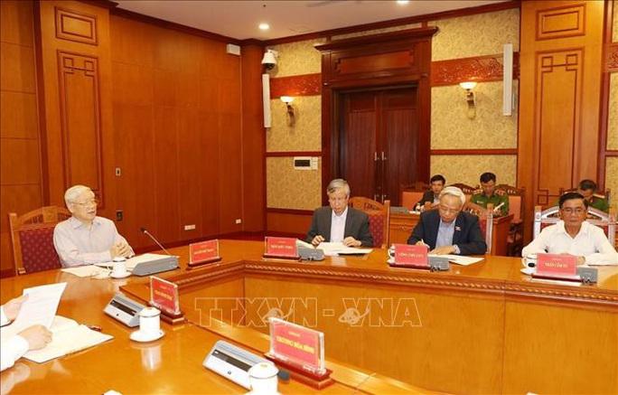 Cận cảnh Tổng Bí thư, Chủ tịch nước chủ trì họp Thường trực Ban Chỉ đạo Trung ương Phòng chống tham nhũng - Ảnh 7.