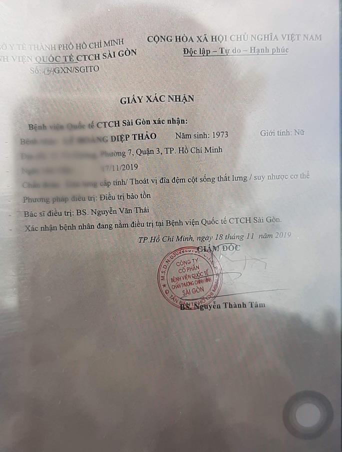 Bà Lê Hoàng Diệp Thảo lại nhập viện khi tòa xử phúc thẩm - Ảnh 1.