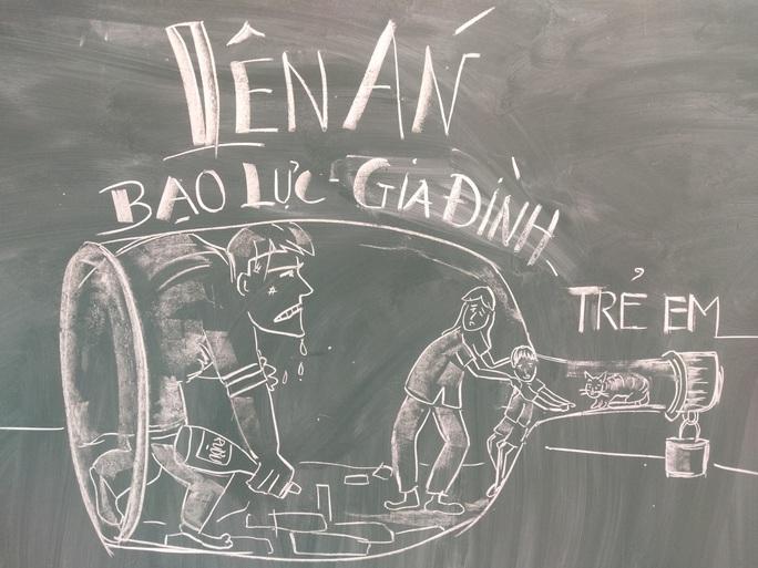 Thầy giáo vẽ tranh bằng phấn trắng trên bảng đen khiến học trò thích thú, cuốn hút mỗi giờ học - Ảnh 15.