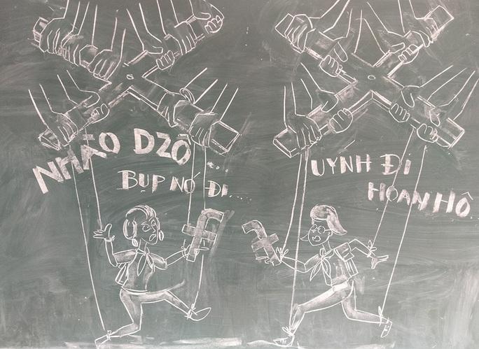 Thầy giáo vẽ tranh bằng phấn trắng trên bảng đen khiến học trò thích thú, cuốn hút mỗi giờ học - Ảnh 14.