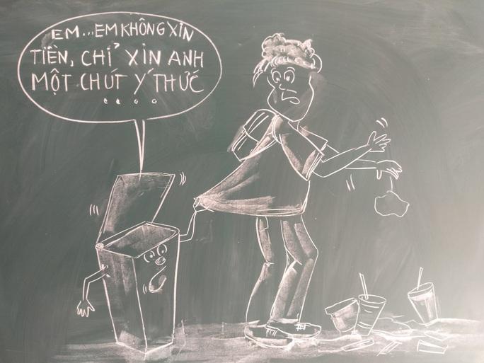Thầy giáo vẽ tranh bằng phấn trắng trên bảng đen khiến học trò thích thú, cuốn hút mỗi giờ học - Ảnh 13.