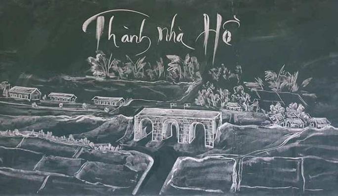 Thầy giáo vẽ tranh bằng phấn trắng trên bảng đen khiến học trò thích thú, cuốn hút mỗi giờ học - Ảnh 7.