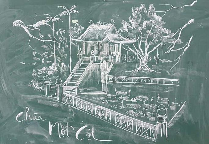 Thầy giáo vẽ tranh bằng phấn trắng trên bảng đen khiến học trò thích thú, cuốn hút mỗi giờ học - Ảnh 6.