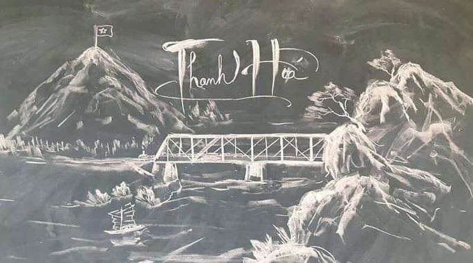 Thầy giáo vẽ tranh bằng phấn trắng trên bảng đen khiến học trò thích thú, cuốn hút mỗi giờ học - Ảnh 8.