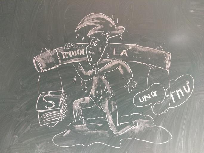 Thầy giáo vẽ tranh bằng phấn trắng trên bảng đen khiến học trò thích thú, cuốn hút mỗi giờ học - Ảnh 11.
