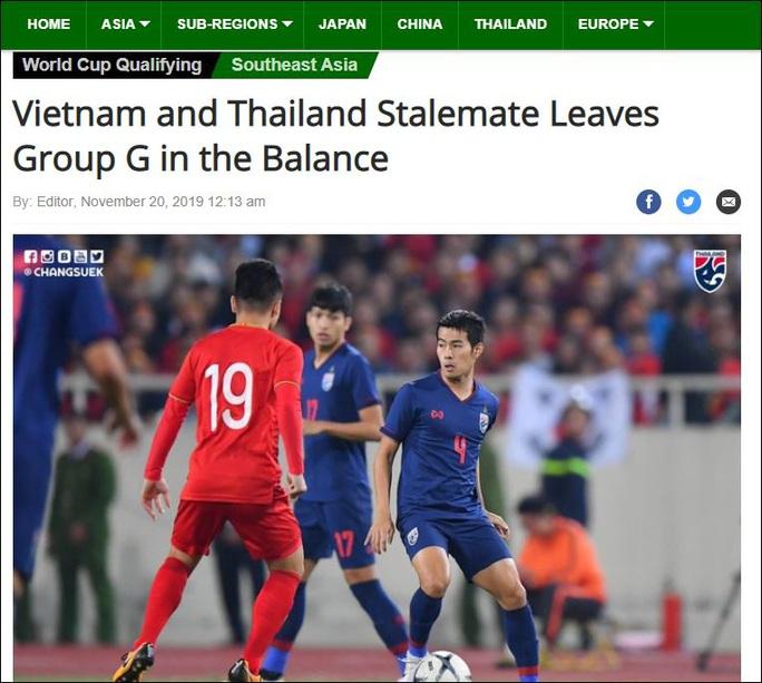 Báo chí Thái Lan tiếc nuối với trận hoà của đội tuyển trước Việt Nam - Ảnh 1.