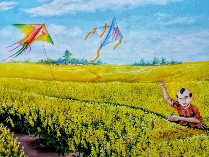 Lịm tim với những bức bích họa đầy màu sắc ở Chử Xá - Ảnh 6.