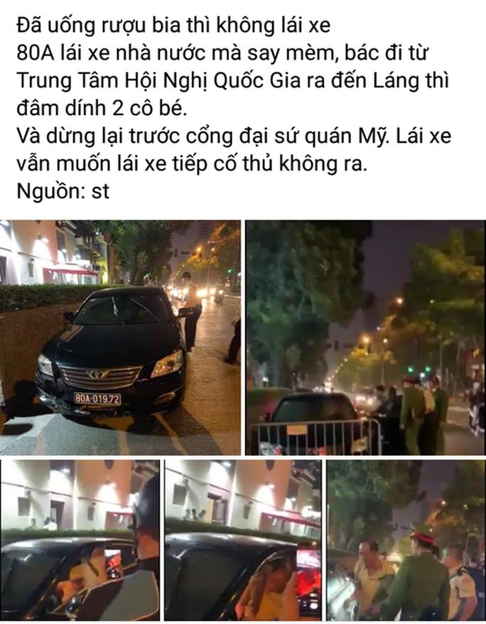 Tài xế xe Camry biển xanh 80A của Liên đoàn Bóng đá Việt Nam gây tai nạn rồi bỏ chạy - Ảnh 2.