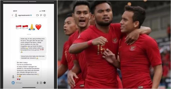 Ẩu đả trên sân, cầu thủ Indonesia và Singapore làm hòa thông qua trang cá nhân - Ảnh 1.