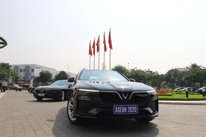 Lần đầu tiên tổ chức hội nghị lớn, Việt Nam chỉ sử dụng xe VinFast - Ảnh 3.