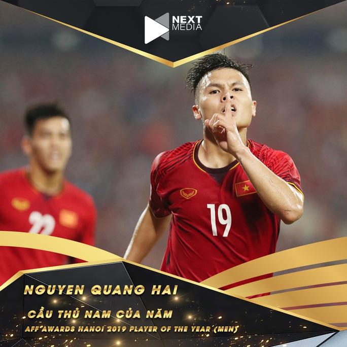 Quang Hải đánh bại Messi Thái, bóng đá Việt Nam thống trị hạng mục quan trọng nhất AFF Awards 2019 - Ảnh 2.