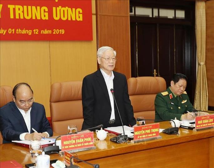 Tổng Bí thư, Chủ tịch nước chủ trì Hội nghị của Quân ủy Trung ương - Ảnh 2.