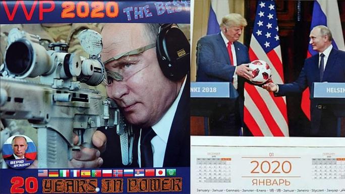 Ông Putin 3 lần xuất hiện cùng ông Trump trong bộ lịch năm 2020 - Ảnh 1.