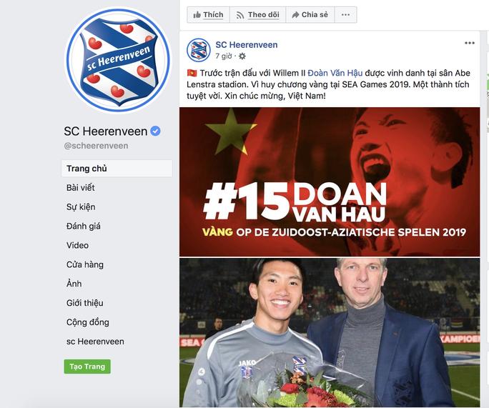 Văn Hậu được vinh danh ở Heerenveen vì thành tích SEA Games 30 - Ảnh 2.