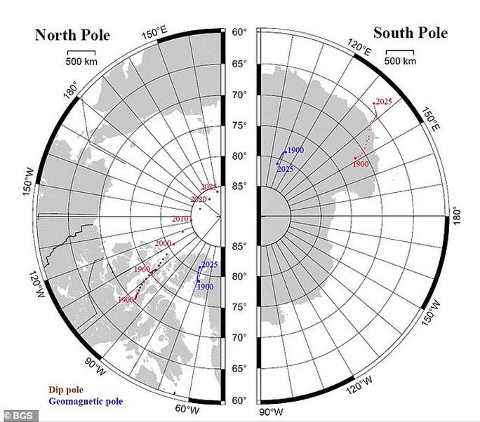 Bắc Cực trôi nhanh từ Canada sang Nga, trái đất sắp đảo ngược? - Ảnh 1.