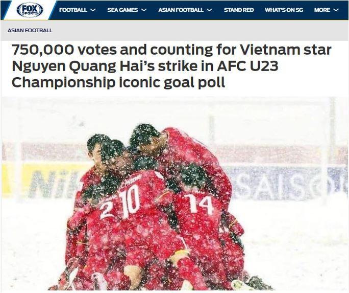 Báo châu Á choáng với lượt bình chọn khủng cho bàn thắng của Quang Hải - Ảnh 1.