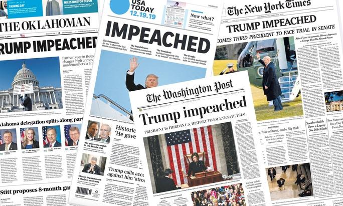 Luận tội Tổng thống Trump: Truyền thông Mỹ chia rẽ - Ảnh 1.