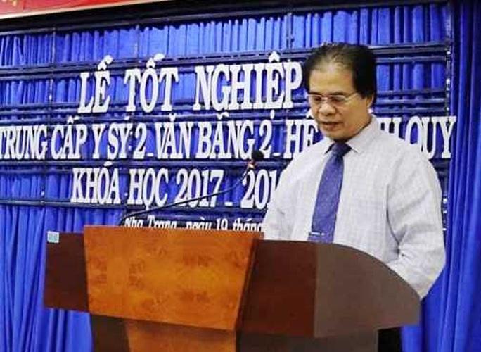 Tạm dừng công tác hiệu trưởng Trường Cao đẳng Y tế Khánh Hòa lạm thu, chi hơn 28 tỉ đồng - Ảnh 3.
