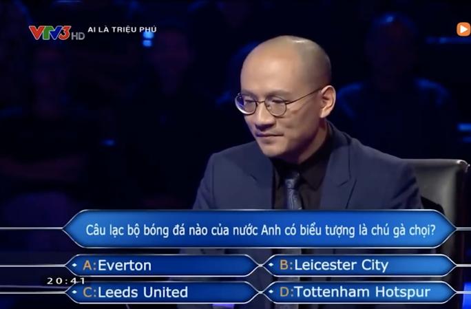 Chương trình Ai là triệu phú nhầm kiến thức về CLB Tottenham? - Ảnh 1.